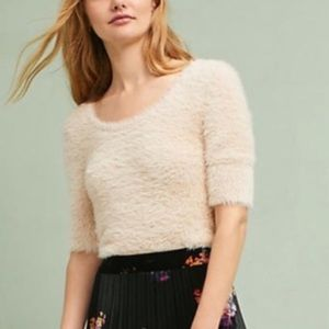 Anthro | Knitted & Knotted Isola Fuzzy Sweater - S